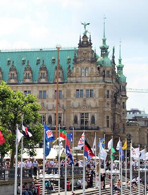 Hamburg Innenstadt - hier arbeitet Maler Boller sehr gern