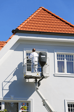 Malerarbeiten an der Außenfassade - Fassadenanstrich