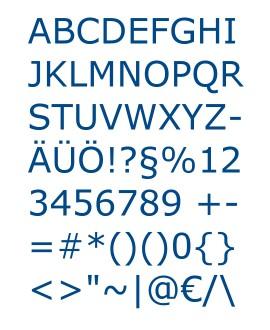 Buchstaben - Schriftarten
