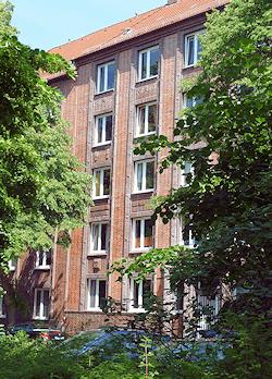 Hamburg Eilbek - auch hier malt Maler Boller sehr gern