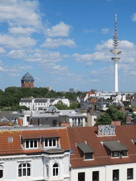 Maler Boller malt für Hamburg Sternschanze